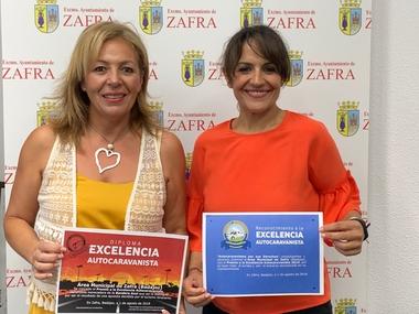 El área de autocaravanas de Zafra ya cuenta con el reconocimiento a la Excelencia Autocaravanista